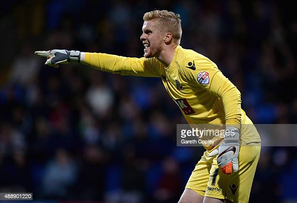 Ben Amos of Bolton during the Sky Bet Championship match between Bolton Wanderers and Sheffield Wednesday at Reebok Stadium on September 15 2015 in...