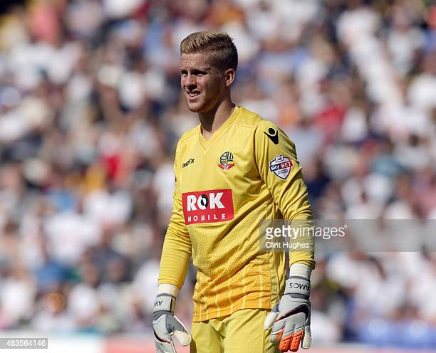 Ben Amos of Bolton Wanderers during the Sky Bet Championship match between Bolton Wanderers and Derby County at the Macron Stadium on August 8 2015...