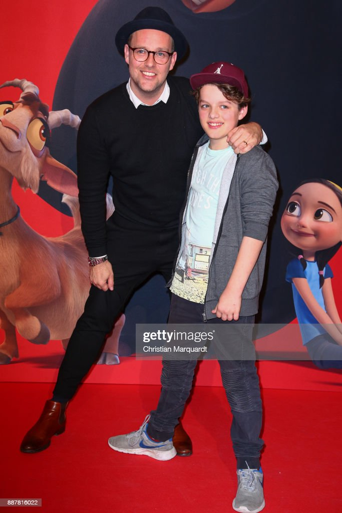 Ben and his nephew attends the premiere of 'Ferdinand - Geht STIERisch ab!' at Zoo Palast on December 7, 2017 in Berlin, Germany.