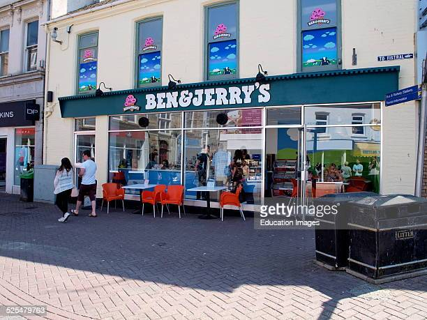 Ben and Jerry's ice cream shop Newquay Cornwall UK