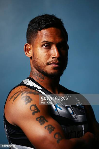 Ben Barba of the Sharks poses during a Cronulla Sharks NRL media session at Southern Cross Group Stadium on September 27 2016 in Sydney Australia
