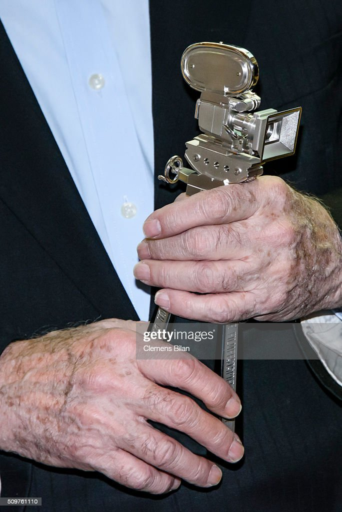 Ben Barenholtz (award detail) attends a photocall after his award ceremony during the 66th Berlinale International Film Festival Berlin at Martin Gropius Bau on February 12, 2016 in Berlin, Germany.