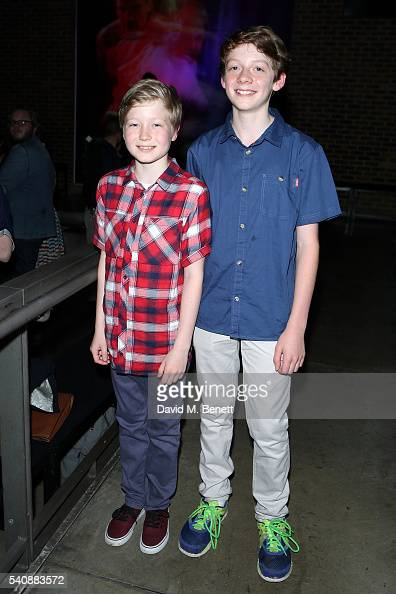 Ben Barker and Baxter Westby attend the press night of 'Richard III' at The Almeida Theatre on June 16 2016 in London England