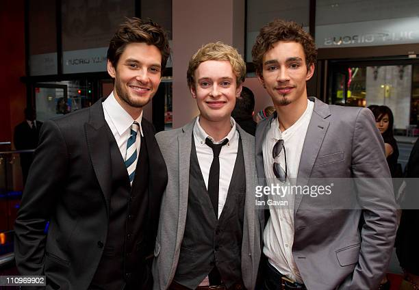 Ben Barnes David Tudor and Robert Sheehan attend the UK film premiere for 'Killing Bono' at Ruby Blue on March 28 2011 in London England