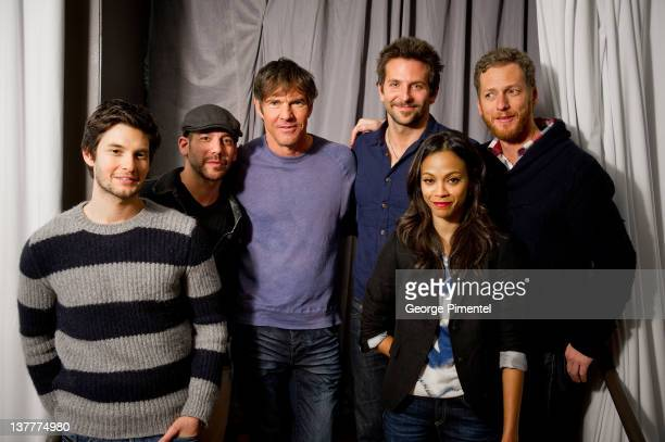 Ben Barnes Lee Sternthal Dennis Quaid Bradley Cooper Zoe Saldana and Brian Klugman attend the 'The Words' Portraits during the 2012 Sundance Film...