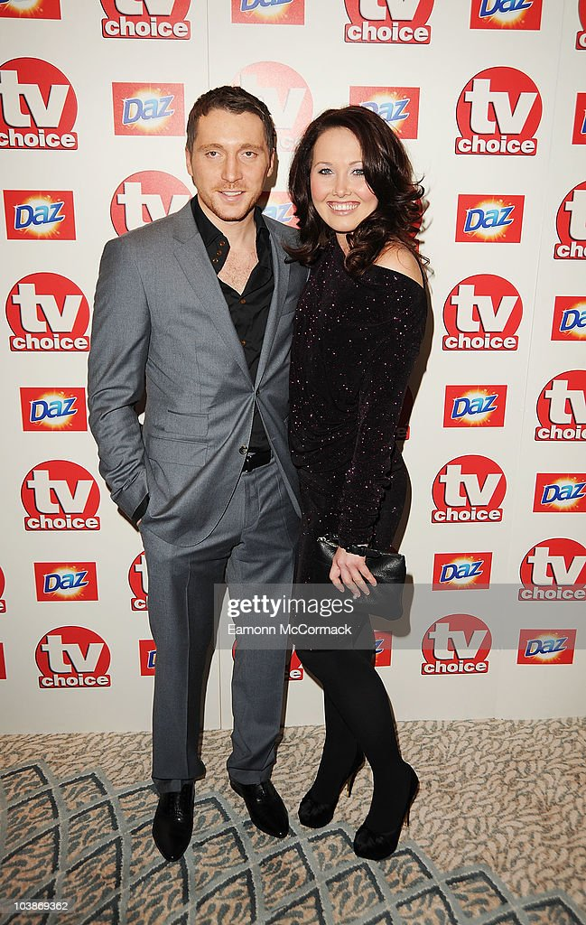Ben Batt (L) and Rebecca Atkinson arrive at the TVChoice Awards 2010 held at The Dorchester on September 6, 2010 in London, England.