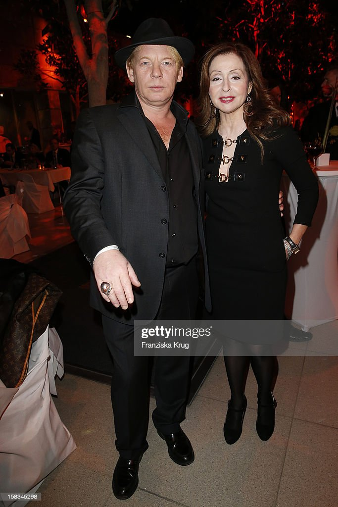 Ben Becker and Vicky Leandros attend the 18th Annual Jose Carreras Gala on December 13, 2012 in Leipzig, Germany.