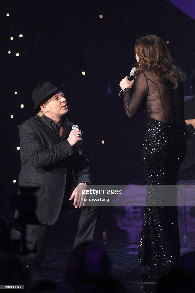 Ben Becker and Vicky Leandros perform during the 18th Annual Jose Carreras Gala on December 13, 2012 in Leipzig, Germany.