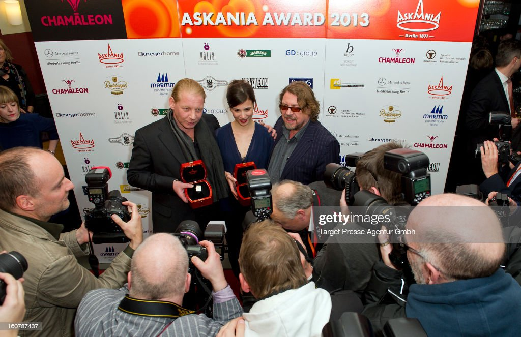Ben Becker, Aylin Tezel and Armin Rohde (L-R)attend the 6th Askania Award 2013 on February 5, 2013 in Berlin, Germany.