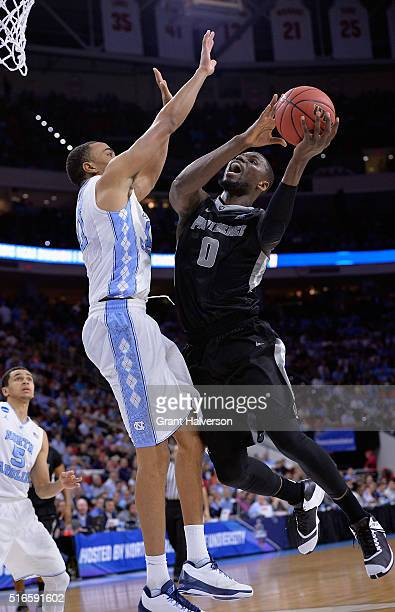 Ben Bentil of the Providence Friars shoots against Brice Johnson of the North Carolina Tar Heels in the second half during the second round of the...