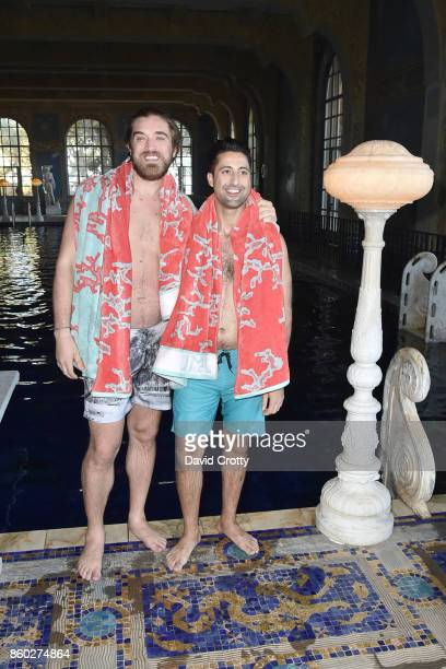 Ben Berube and Sasha Sanan attend Hearst Castle Preservation Foundation Annual Benefit Weekend 'Roman Pool Swim' at Hearst Castle on September 30...