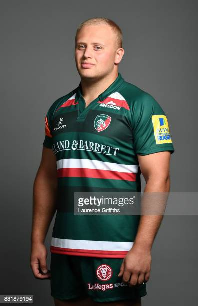 Ben Betts of Leicester Tigers poses for a portrait during the squad photo call for the 20172018 Aviva Premiership Rugby season at Welford Road on...