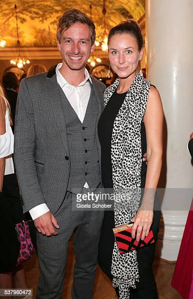 Ben Blaskovic and his girlfriend Elena Mussawi during the Bayerischer Fernsehpreis 2016 at Prinzregententheater on June 3 2016 in Munich Germany
