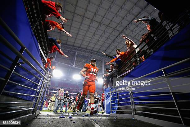 Ben Boulware of the Clemson Tigers jogs off the field after the Clemson Tigers defeated the Ohio State Buckeyes 310 to win the 2016 PlayStation...