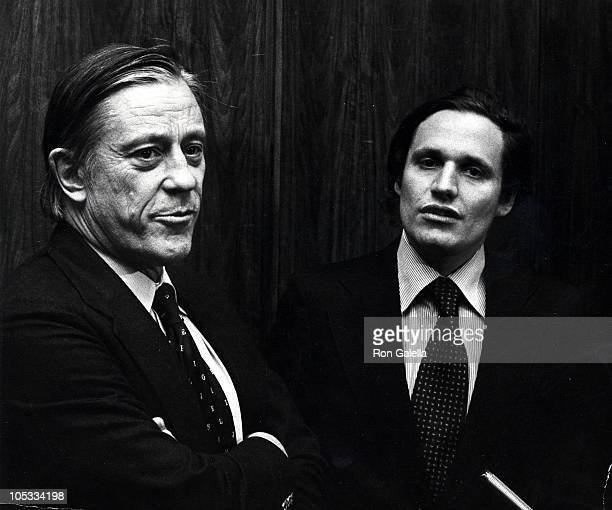 Ben Bradlee and Bob Woodward during 'All the President's Men' 1976 Premiere in Washington DC in Washington DC United States