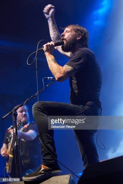 Ben Bridwell of Band Of Horses performs at Huxleys Neue Welt on August 14 2017 in Berlin Germany