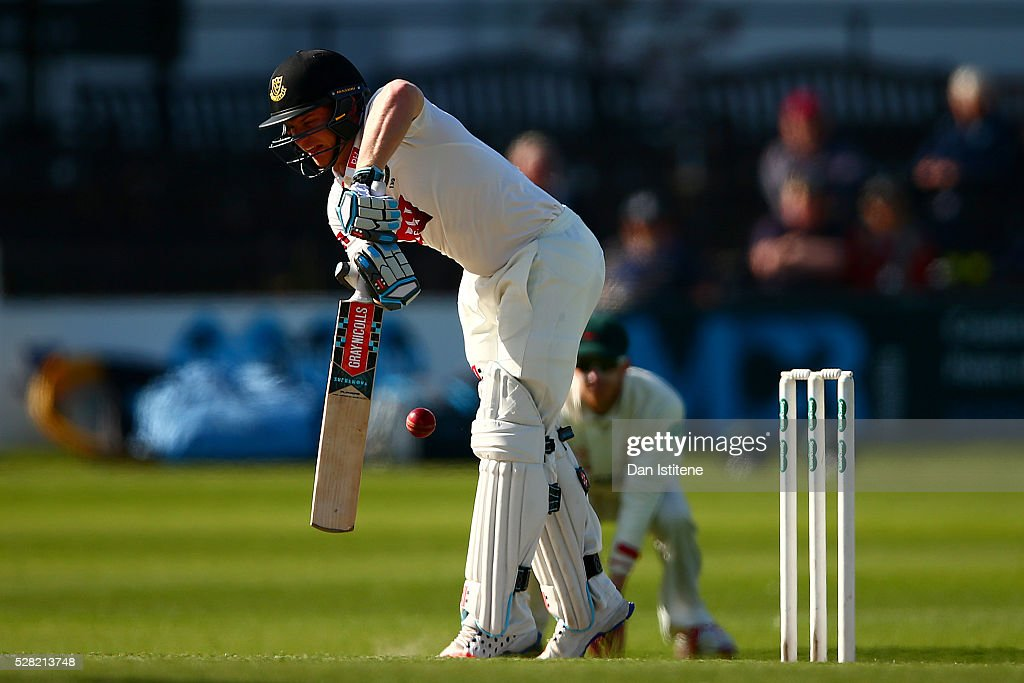 <a gi-track='captionPersonalityLinkClicked' href=/galleries/search?phrase=Ben+Brown+-+Cricket+Player&family=editorial&specificpeople=14828377 ng-click='$event.stopPropagation()'>Ben Brown</a> of Sussex is caught lbw during the Specsavers County Championship Division Two match between Sussex and Leicestershire at The 1st Central County Ground on May 4, 2016 in Hove, England.