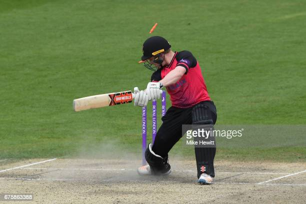 Ben Brown of Sussex is clean bowled by Marchant de Lange of Glamorgan during the Royal London OneDay Cup match between Sussex and Glamorgan at The...