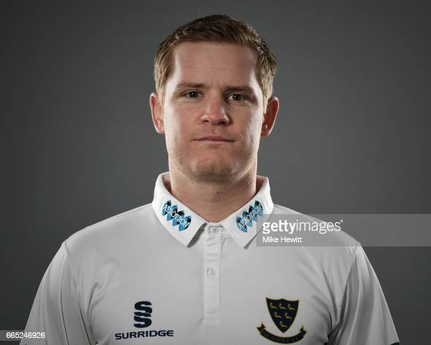 Ben Brown of Sussex poses for a portrait during a Sussex CCC Photocall at The 1st Central County Ground on April 5 2017 in Hove England