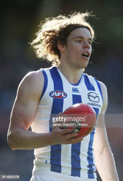 Ben Brown of the Kangaroos in action during the 2017 AFL round 17 match between the Port Adelaide Power and the North Melbourne Kangaroos at the...