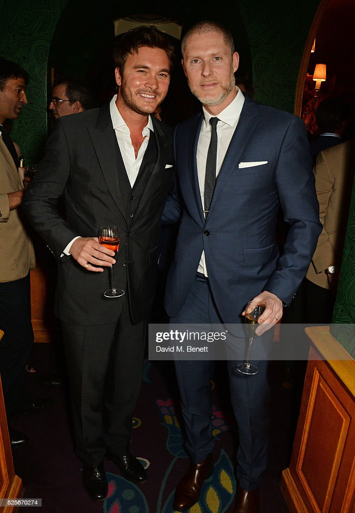 Ben Caring (L) and Jean-David Malat attend a private dinner hosted by Fawaz Gruosi, founder of de Grisogono, at Annabels on April 28, 2016 in London, England.