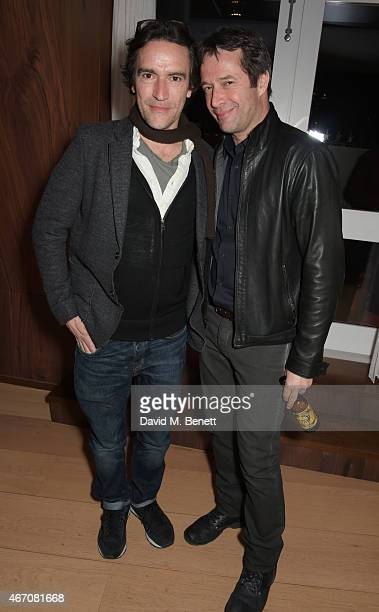 Ben Chaplin and James Purefoy attend Sienna Guillory's birthday party at The London Edition Hotel on March 20 2015 in London England