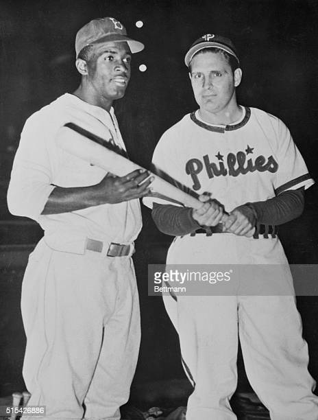 Ben Chapman Philadelphia Phillies manager who was reprimanded by baseball commissioner Chandler for verbally abusing Jackie Robinson Brooklyn Dodgers...