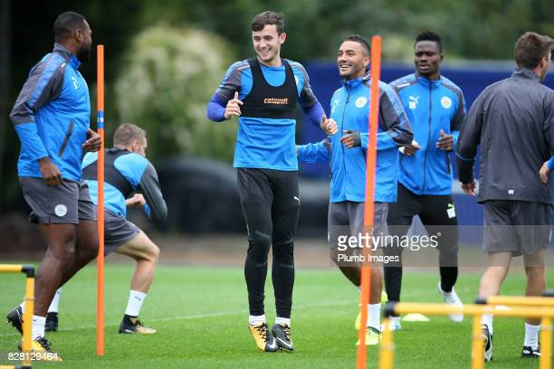 Ben Chilwell during the Leicester City training session at Belvoir Drive Training Complex on August 09 2017 in Leicester United Kingdom