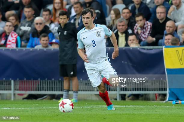 Ben Chilwell of England in action during the UEFA European Under21 Championship match between Sweden and England at Arena Kielce on June 16 2017 in...