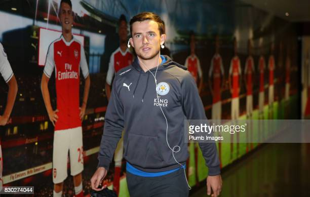 Ben Chilwell of Leicester City arrives at Emirates Stadium ahead of the Premier League match between Arsenal and Leicester City at Emirates Stadium...