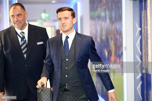 Ben Chilwell of Leicester City arrives at King Power Stadium ahead of the Premier League match between Leicester City and Liverpool at King Power...