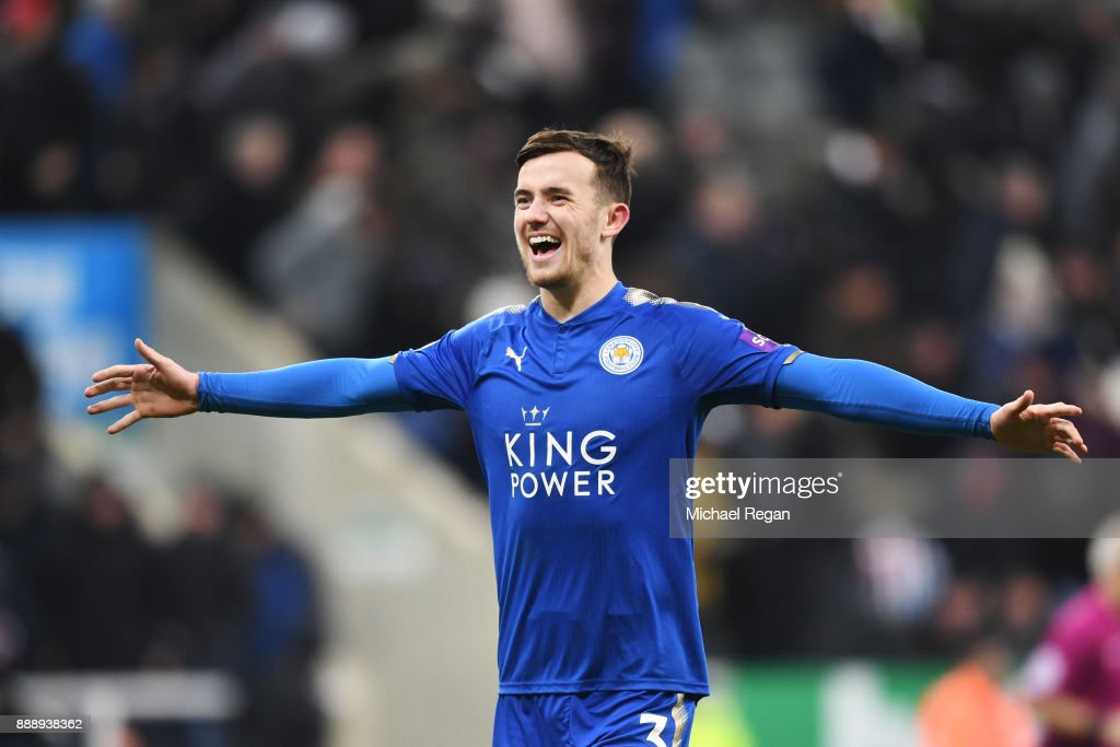 Ben Chilwell of Leicester City celebrates after the Premier League match between Newcastle United and Leicester City at St. James Park on December 9, 2017 in Newcastle upon Tyne, England.