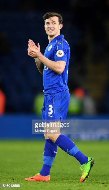 Ben Chilwell of Leicester City celebrates victory during the Premier League match between Leicester City and Liverpool at The King Power Stadium on...