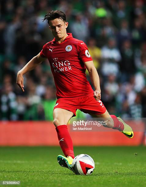 Ben Chilwell of Leicester City controls the ball during the Pre Season Friendly match between Celtic and Leicester City at Celtic Park Stadium on...