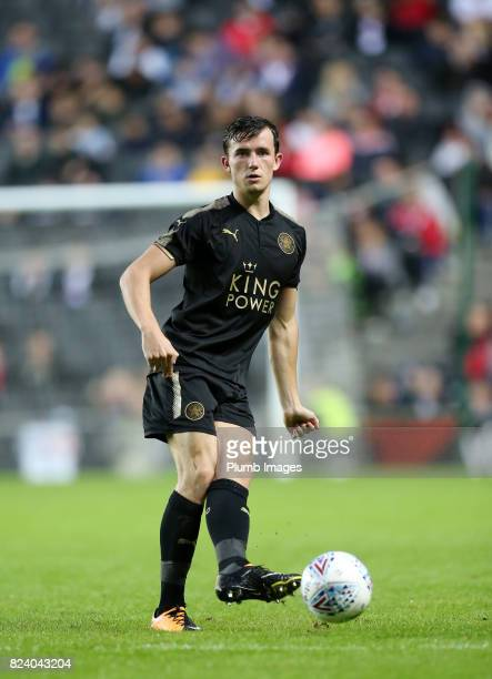 Ben Chilwell of Leicester City during the pre season friendly between MK Dons and Leicester City on July 28th 2017 in Milton Keynes United Kingdom