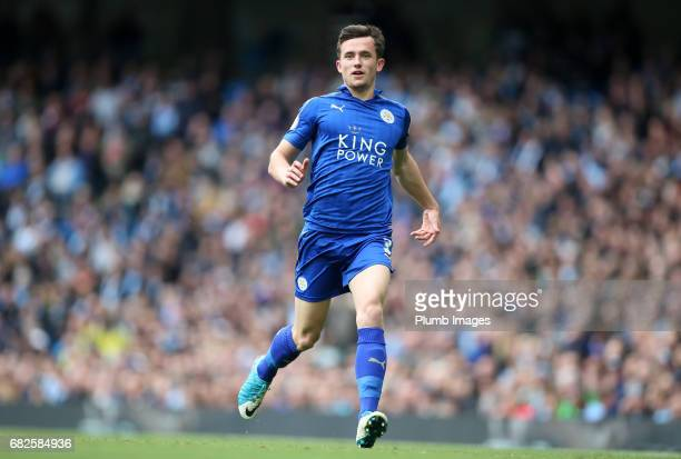 Ben Chilwell of Leicester City in action during the Premier League match between Manchester City and Leicester City at Etihad Stadium on May 13 2017...