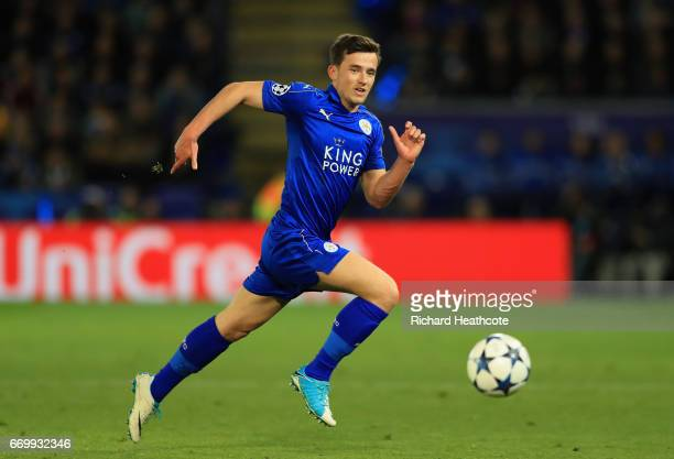 Ben Chilwell of Leicester City in action during the UEFA Champions League Quarter Final second leg match between Leicester City and Club Atletico de...