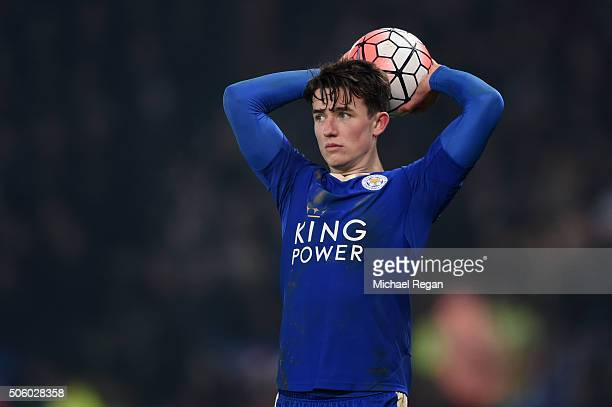Ben Chilwell of Leicester in action during the Emirates FA Cup Third Round Replay match between Leicester City and Tottenham Hotspur at The King...