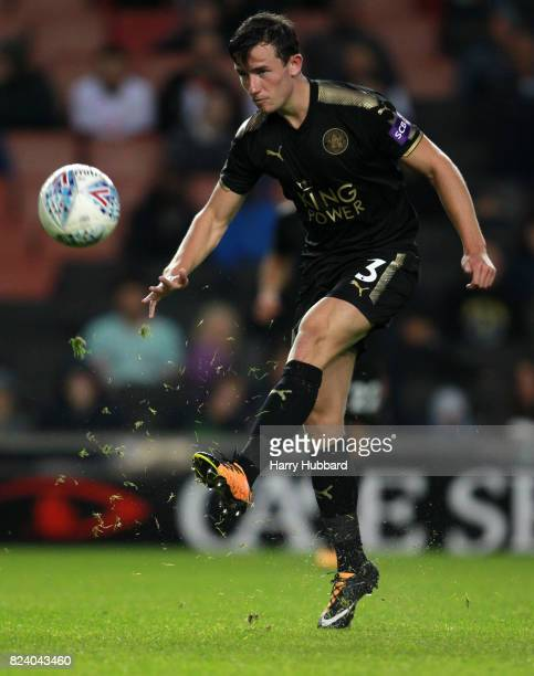 Ben Chilwell of Leicester in action during the preseason friendly match between MK Dons and Leicester City at StadiumMK on July 28 2017 in Milton...