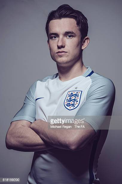 FILTERS Ben Chilwell of the England U21 squad poses at St Georges Park on March 24 2016 in BurtonuponTrent England