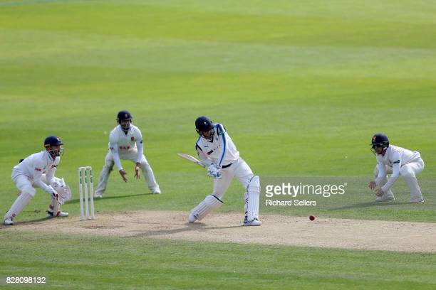 Ben Coad of Yorkshire batting during the Specsavers County Championship Division One between Yorkshire and Essex at North Marine Road on August 7...