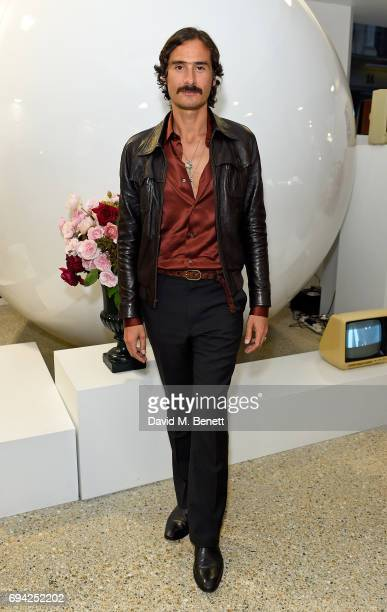 Ben Cobb attends a cocktail event for the launch of a special Gucci PreFall capsule exclusive to Dover Street Market on June 9 2017 in London United...