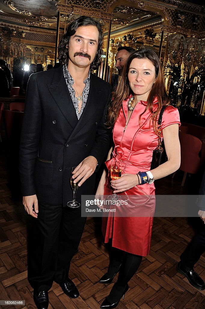 Ben Cobb (L) attends the AnOther Magazine and Dazed & Confused party with Belvedere Vodka at the Cafe Royal hotel on February 18, 2013 in London, England.
