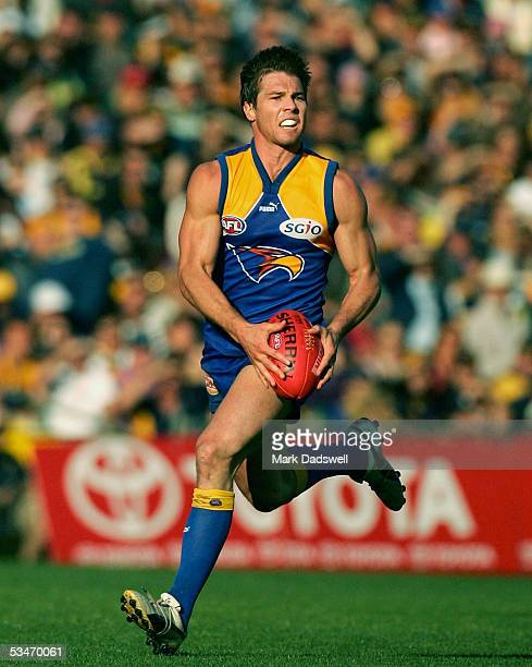 Ben Cousins for the Eagles in action during the AFL round 22 match between the West Coast Eagles and the Adelaide Crows at Subiaco Oval August 27...