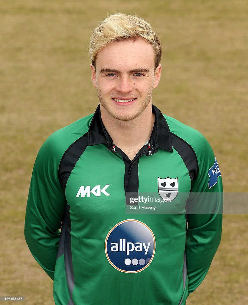 Ben Cox during a Photocall for Worcestershire County Cricket Club on April 9, 2013 in Worcester, England.