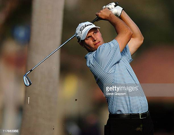 Ben Crane competes during the third round at the PGA Tour 45th Bob Hope Chrysler Classic Pro Am at La Quinta Country Club January 23 2004