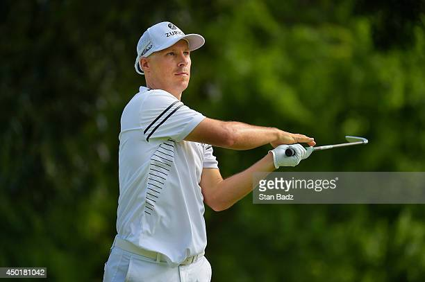 Ben Crane hits a tee shot eighth hole during the second round of the FedEx St Jude Classic at TPC Southwind on June 6 2014 in Memphis Tennessee