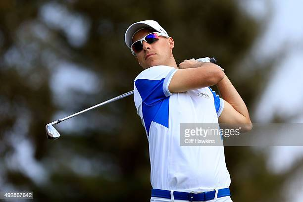 Ben Crane plays his shot from the second tee during the first round of the Fryscom Open at the North Course of the Silverado Resort and Spa on...