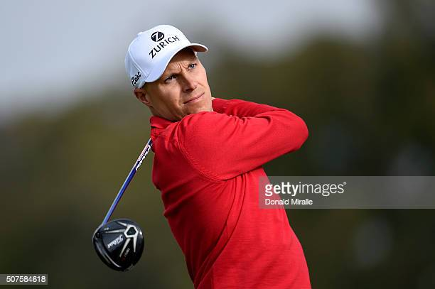 Ben Crane tees off on the 2nd hole during Round 3 of the Farmers Insurance Open at Torrey Pines South on January 30 2016 in San Diego California