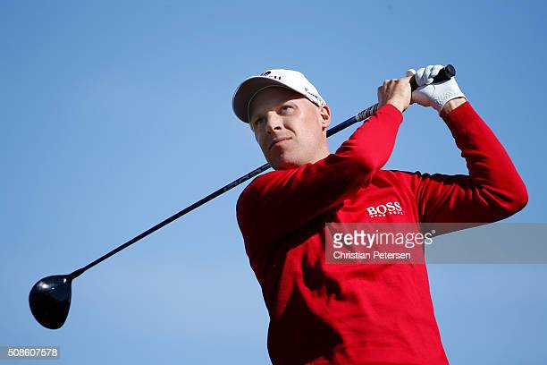 Ben Crane tees off on the third hole during the second round of the Waste Management Phoenix Open at TPC Scottsdale on February 5 2016 in Scottsdale...